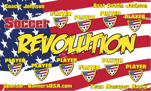 Revolution Vinyl Soccer Banner - E-Z Order