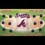 Braves Vinyl Baseball Team Banner E-Z Order