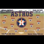 Astros Vinyl Baseball Team Banner - E-Z Order