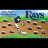 Rays Baseball Team Banner - Live Designer
