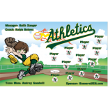 Athletics Vinyl Baseball Team Banner - E-Z Order