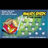 Angry Birds Vinyl Baseball Team Banner - E-Z Order
