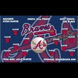 Braves Vinyl Major League Banner - E-Z Order