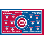 Cubs Major League Team Banner - Live Designer