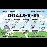 Goals R Us Vinyl Soccer Banner - E-Z Order