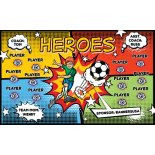Heroes Vinyl Soccer Banner - E-Z Order