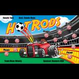 Hot Rods Vinyl Soccer Banner - E-Z Order