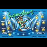 Superstars Vinyl Soccer Banner - E-Z Order