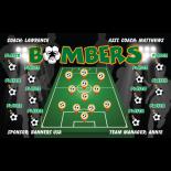 Bombers Fabric Soccer Banner - E-Z Order