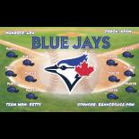 Blue Jays Vinyl Baseball Team Banner E-Z Order