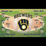 Brewers Vinyl Baseball Team Banner E-Z Order