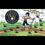 Brewers Vinyl Baseball Team Banner - E-Z Order