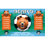 Bears Vinyl Soccer Banner - E-Z Order