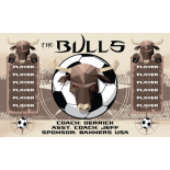 Bulls Fabric Soccer Banner - E-Z Order