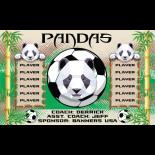 Pandas Vinyl Soccer Banner - E-Z Order