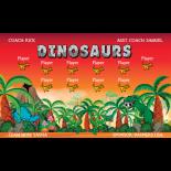 Dinosaurs Fabric Soccer Banner E-Z Order