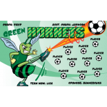 Hornets Green Fabric Soccer Banner - Live Designer