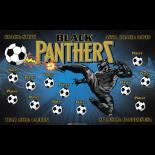 Black Panthers Fabric Soccer Banner Live Designer