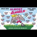 Angels Almost Fabric Soccer Banner - Live Designer
