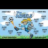 Angels Blue Fabric Soccer Banner - Live Designer