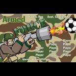 Armed Force Vinyl Soccer Banner - Live Designer