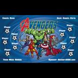 Avengers Vinyl Soccer Banner - Live Designer