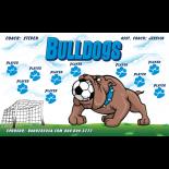 Bulldogs Fabric Soccer Banner Live Designer