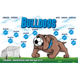 Bulldogs Vinyl Soccer Banner Live Designer