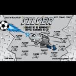 Bullets Silver Vinyl Soccer Banner Live Designer