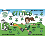 Celtics Vinyl Soccer Banner - Live Designer