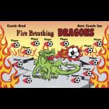 Dragons Fire Breathing Vinyl Soccer Banner - Live Designer