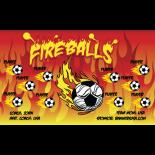 Fireballs Fabric Soccer Banner - Live Designer