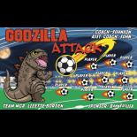 Godzilla Attack Vinyl Soccer Banner - Live Designer
