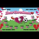 Heartbreakers Fabric Soccer Banner - Live Designer