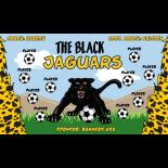 Jaguars Black Fabric Soccer Banner - Live Designer