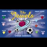 Jewels Fabric Soccer Banner - Live Designer