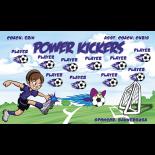 Kickers Power Vinyl Soccer Banner - Live Designer