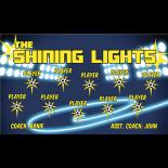 Lights Shining Vinyl Soccer Banner - Live Designer