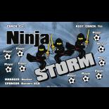 Ninja Storm Vinyl Soccer Banner - Live Designer