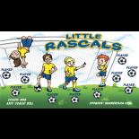 Rascals Little Vinyl Soccer Banner - Live Designer