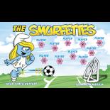 Smurfettes Fabric Soccer Banner - Live Designer