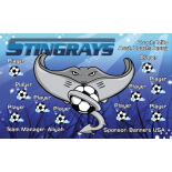 Stingrays Fabric Soccer Banner - Live Designer