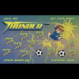 Thunder Vinyl Soccer Banner - Live Designer