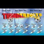 Thunder Bolts Fabric Soccer Banner - Live Designer