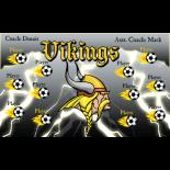 Vikings Fabric Soccer Banner - Live Designer