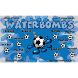 Waterbombs Fabric Soccer Banner - Live Designer