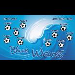 Blue Waves Vinyl Soccer Banner - Live Designer