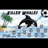 Whales Killer Fabric Soccer Banner - Live Designer