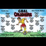 Crushers Goal Fabric Soccer Banner Live Designer