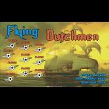 Flying Dutchmen Fabric Soccer Banner Live Designer
